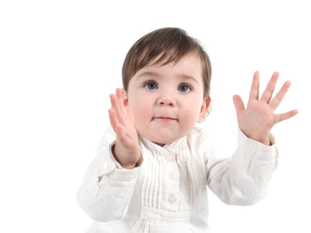 Baby clapping happy